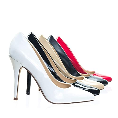 900da259f2d Delicious Womens Date-H Pointed Toe High Heel Pumps,White Patent,8:  Amazon.ca: Shoes & Handbags