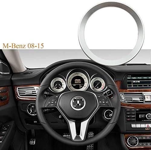 [해외]Xotic Tech 유광 자동차 스티어링 휠 센터 로고 링 트림 메르세데스 벤츠 B C GLK 전용 / Xotic Tech 유광 자동차 스티어링 휠 센터 로고 링 트림 메르세데스 벤츠 B C GLK 전용