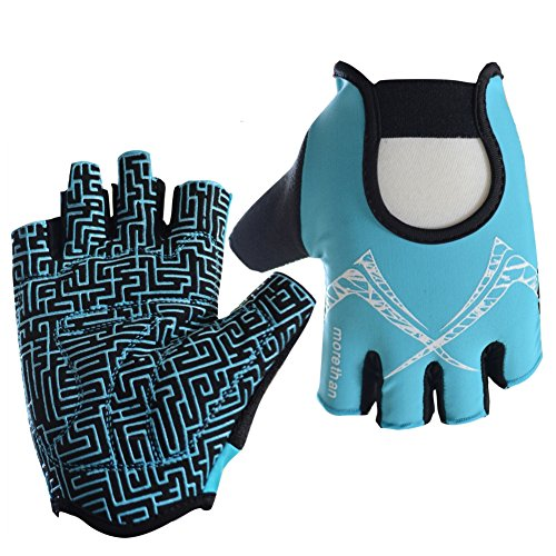 Fitness Gloves, Anti-skid GYM Training Gripper Gloves Callus Guard Workout Weight Lifting Yoga Gloves Half Finger Running Cycling Gloves Summer Driving Hiking Climbing Camping Gloves Biking Mittens
