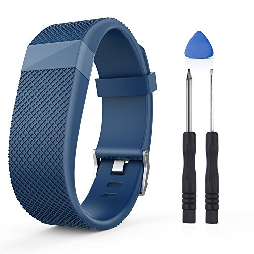 Gealpoor for Fitbit Charge HR, Replacement Adjustable Band Strap for Fitbit Charge HR