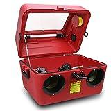 XtremepowerUS Portable 15 Gallon Abrasive Sandblaster Cabinet W/Gun, Hose & 4 Nozzles