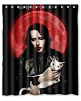 High-Grade Marilyn Manson Custom Shower Curtain 60 x 72 Inch Comfortable