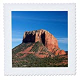 3dRose Danita Delimont - Arizona - Arizona, Sedona, Red Rock Country, Courthouse Butte - 20x20 inch quilt square (qs_258712_8)