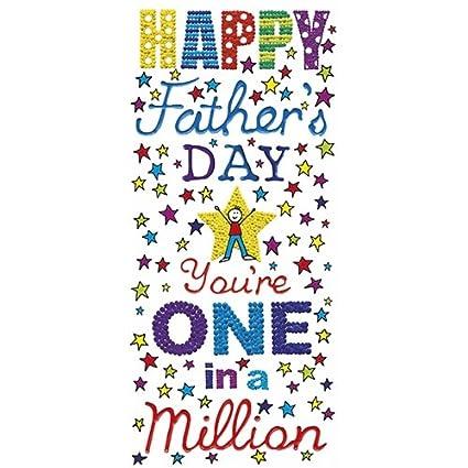 Día del padre tarjeta - eres uno en un millón: Amazon.es ...
