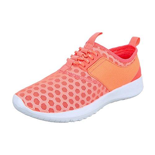 Ital-Design - Zapatillas de Material Sintético para mujer Coral QH-7