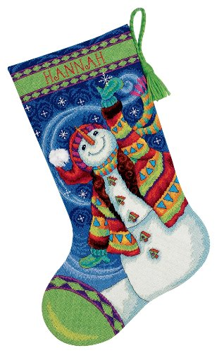 Dimensions Needlecrafts Needlepoint, Happy Snowman Stocking Dimensions Needlepoint Kits