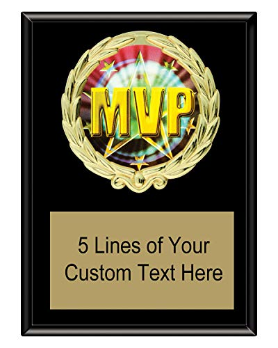 - Express Medals 5x7 Black Color MVP Most Valuable Player Plaque Award Trophy with Engraved Plate MY4
