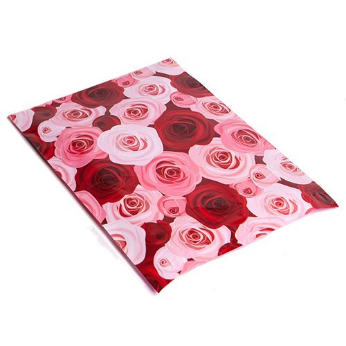 10x13 pink red roses designer poly mailers shipping for Decorative poly mailers