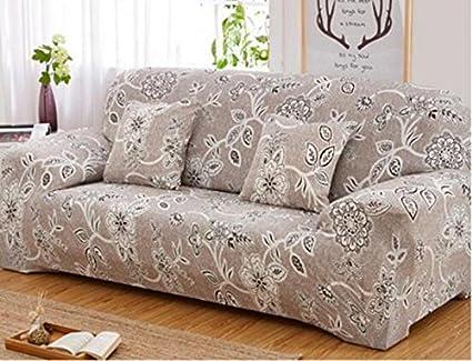 Ordinaire YJBear 1 PC European White Flower Pattern Polyester Spandex Furniture Cover  Slip Resistant Strapless Stretch Chair