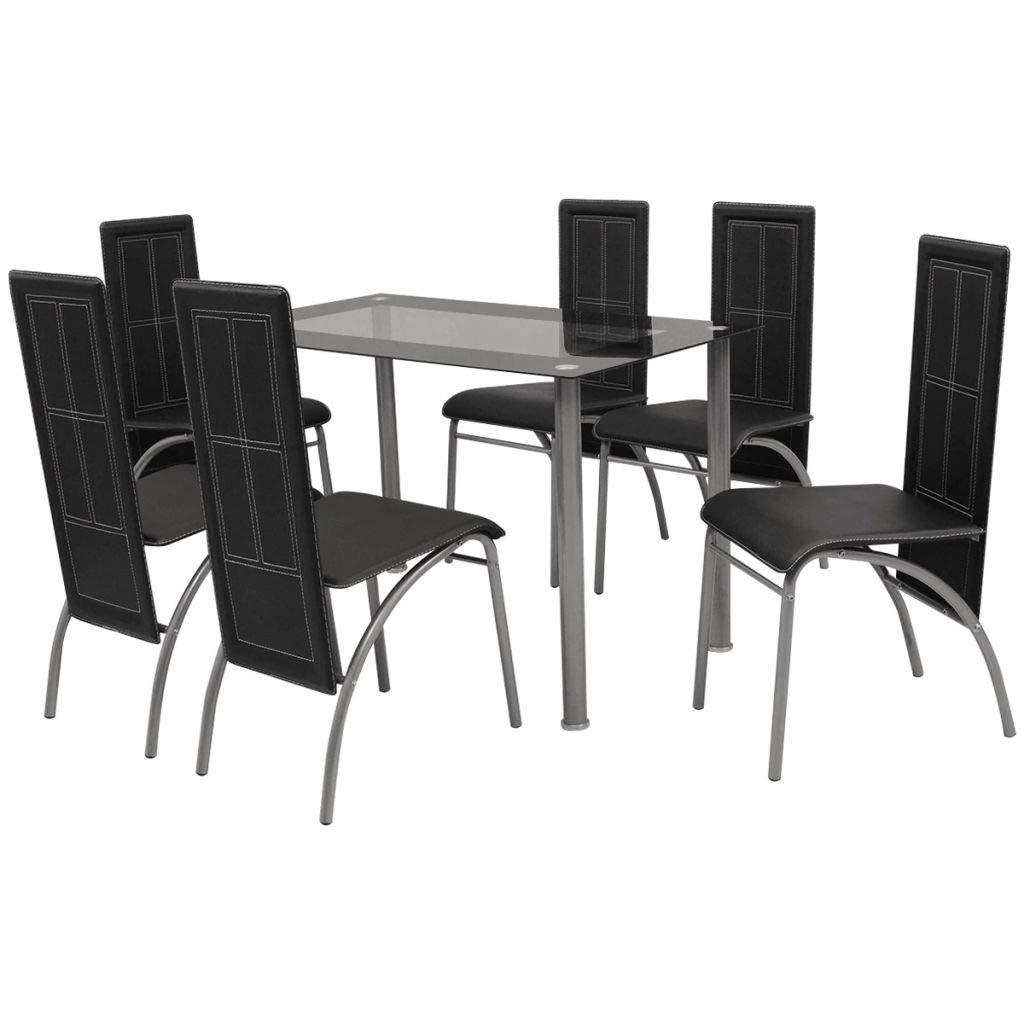 Festnight Set di mobili in Legno da Pranzo Tavolo