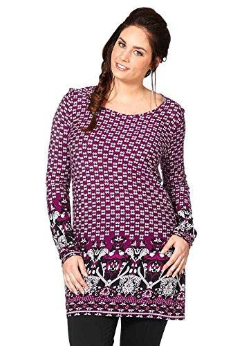 Sheego - Camiseta - Túnica - Opaco - para mujer pink-cyclam