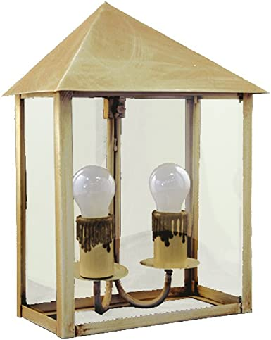 Aplique de Pared Rustico Exterior Modelo Caleta 1091/4MVTR (Marfil Viejo - Cristal Transparente): Amazon.es: Iluminación