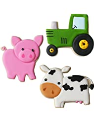 Sweet Elite Tools- Farm Stainless Steel Cookie Cutter Set: Pig, Tractor and Cow By Autumn Carpenter