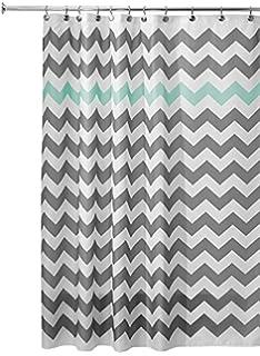 grey chevron shower curtains. Perfect Grey InterDesign Chevron Shower Curtain 72 X 72Inch GrayAruba With Grey Curtains O