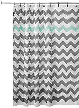 multi color chevron shower curtain. InterDesign Chevron Shower Curtain  72 x Inch Gray Aruba Amazon com