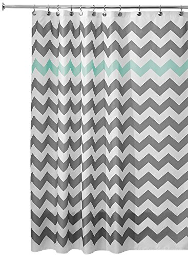 Incroyable InterDesign Chevron Shower Curtain, 72 X 72 Inch, Gray/Aruba