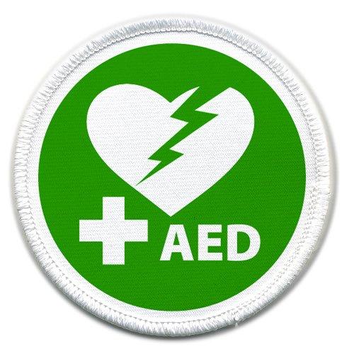 AED Defibrillator Certified 3 inch Sew-on - 20 Defibrillator Aed