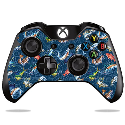 - MightySkins Skin For Microsoft Xbox One or One S Controller - Saltwater Compass | Protective, Durable, and Unique Vinyl Decal wrap cover | Easy To Apply, Remove, and Change Styles | Made in the USA