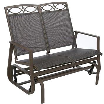 Prime Leisuregrow West Virginia Glider Bench Amazon Co Uk Garden Creativecarmelina Interior Chair Design Creativecarmelinacom