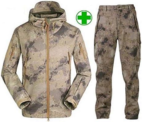 Mdsgfc Veste d'extérieur en softshell pour homme Motif camouflage Mk Black