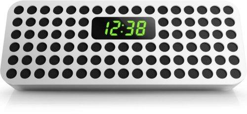 Philips Bluetooth Wireless Speaker with Clock Display (White)