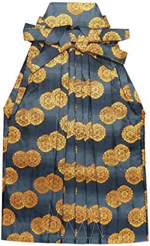 七五三 袴 3歳 男の子 金襴生地の袴 53cm 単品 合繊「グレー系 菊紋」OHB53-1737tan