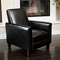 Noble House Delouth Recliner Club Chair in Black