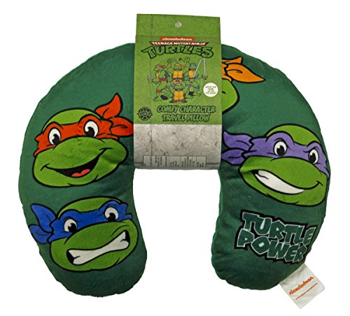 Nickelodeon Teenage Mutant Ninja Turtles Retro Heads Travel Neck Pillow
