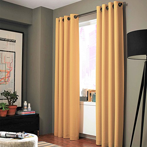 insulated yellow curtains - 8