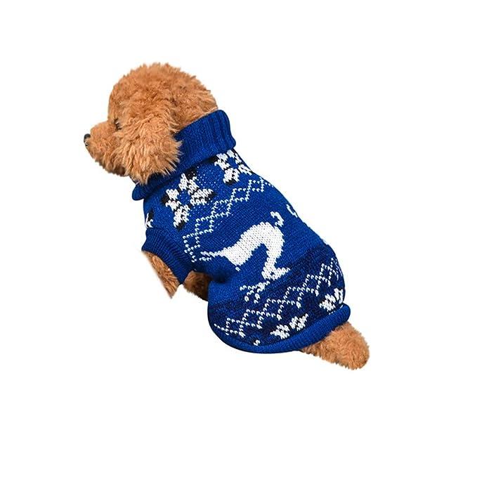 Ropa para Mascotas,Dragon868 2019 Invierno Caliente suéteres de Cuello Alto para Mascotas Perros suéteres: Amazon.es: Ropa y accesorios