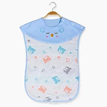 Beito bebé Saco de Dormir Ajustable algodón usable Manta Mantas bebé Envolver lecho del bebé Oso Azul Patrón Heads: Amazon.es: Juguetes y juegos