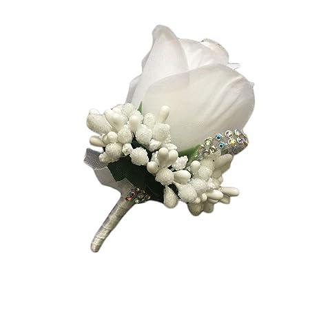 WDOIT Rose Flores Bouton Riñón Solapa Flores Boda Broche Pin ...