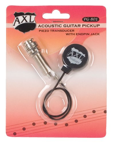 AXL Acoustic Guitar Transducer Pickup with Endpin - Vises Tuning