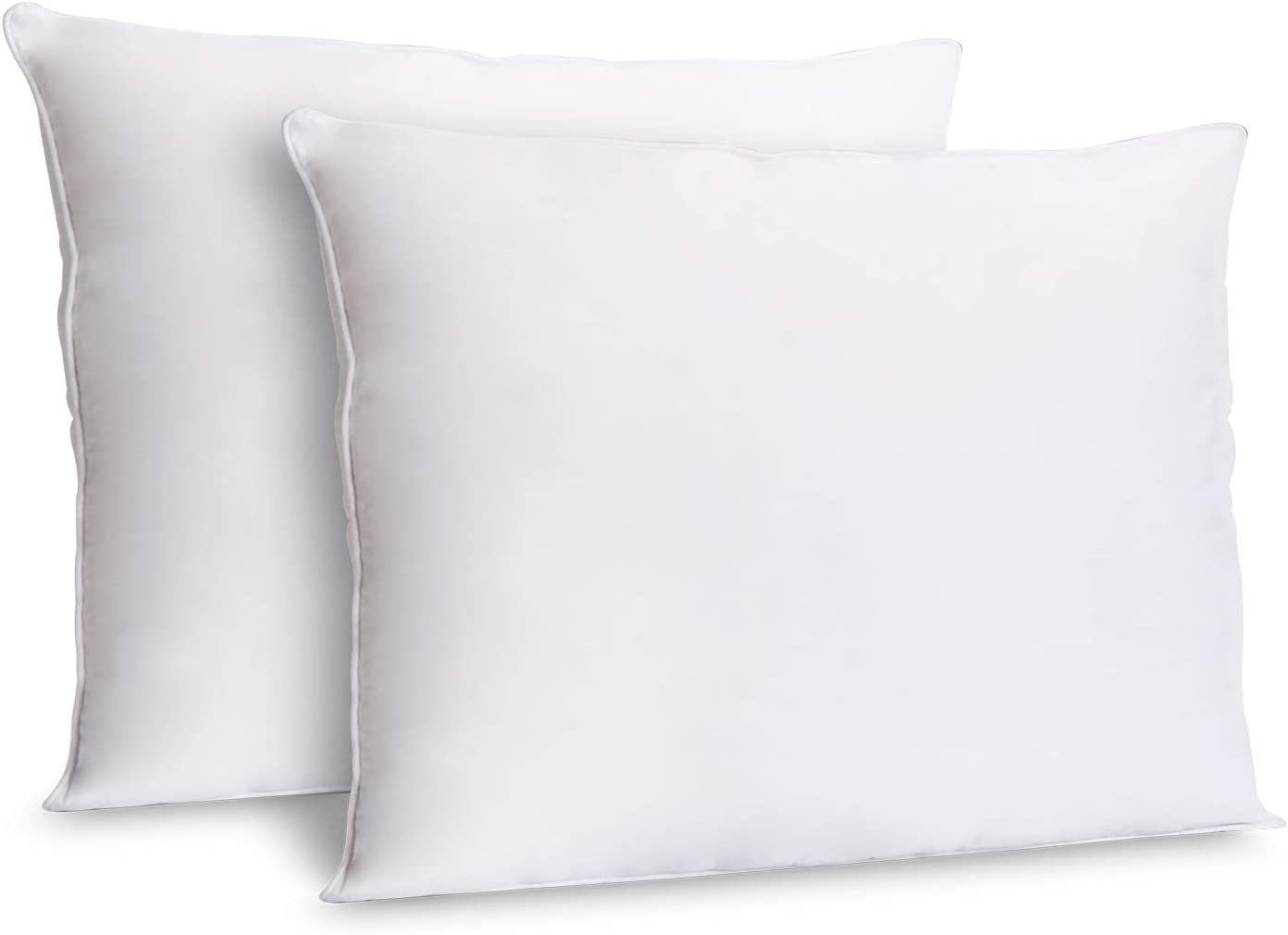 Amazon Com Zoyer Decorative Throw Pillow Inserts 2 Pack White Hypoallergenic Square Pillows Indoor Sofa Pillows Premium Quality Euro Pillows Decorative Pillow Cushion Sham Stiffer 12 X 20 Inch Kitchen Dining