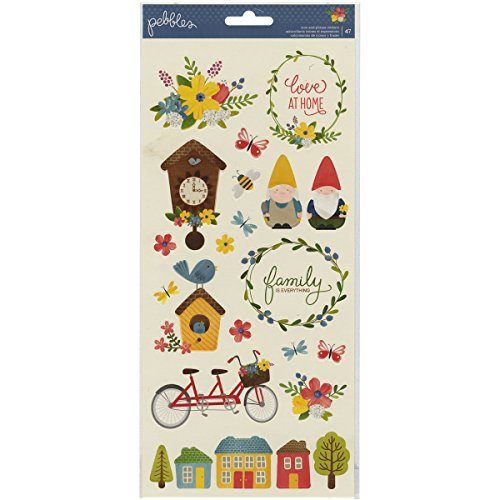 Pebbles Homegrown Icon and Phrase Sticker Sheets Gnomes Sticker