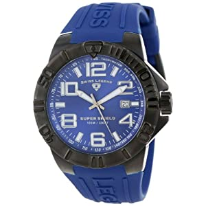 Swiss Legend Men's 40117-BB-03 Super Shield Blue Dial Blue Silicone Watch