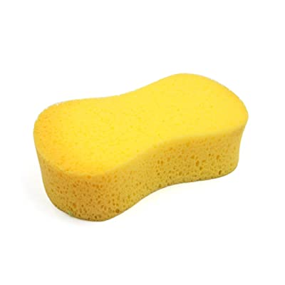 uxcell Universal Yellow Portable 8 Shaped Car Automobile Washing Cleaning Sponge Pad: Automotive
