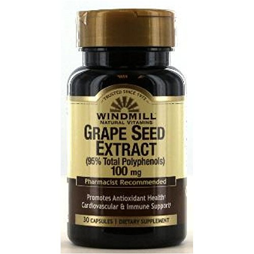 Windmill Windmill Grape Seed Extract 100Mg Caps 30'S - Seed Extract 30 Standardized Caps