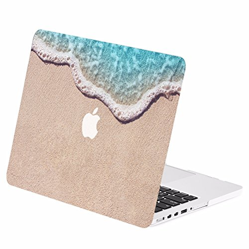"TOP CASE - Retina 13-Inch Retro Series Rubberized Hard Case Cover for Macbook Pro 13"" with Retina Display Model: A1425 / A1502 - Clearwater Beach"
