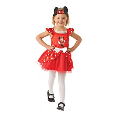 Amazon.com: 5 – 6 Años Rojo Las Niñas Disfraz de Minnie ...
