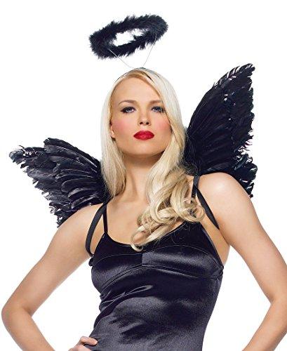 [Leg Avenue 2065B Angel Accessory Costume Kit - One Size - Black] (Black Angel Costume Accessories)