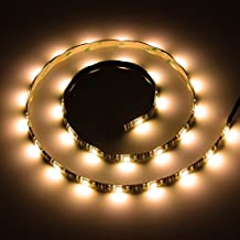 Led Light Strip Sunsbell LED Rope Strips 5050 SMD Battery Powered Led Strip - Waterproof Flexible Strip Light with Controller (100cm/3.28ft, Warm White)