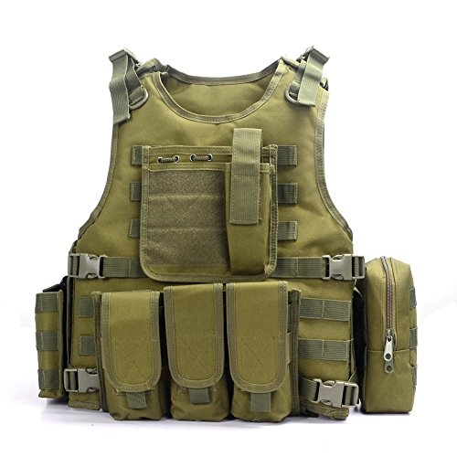Yakeda Army Fans Tactical Vest Cs Field Swat Tactical Vest Army Fans Outdoor Vest Cs Game Vest Cosplay of Counter Strike Game Vest-322 (green)