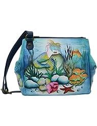 Anuschka Handbags Womens 525 Triple Compartment Convertible Tote Little Mermaid Crossbody Bag