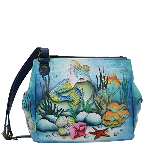 Anuschka Handbags Women's 525 Triple Compartment Convertible Tote Little Mermaid Crossbody Bag by ANUSCHKA