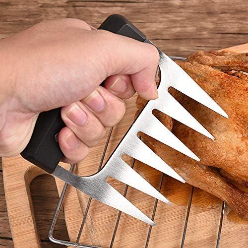 Viande Griffes - Ours en Acier Inoxydable Griffes Viande Shredder Forks BBQ pour la manutention, Levage, Broyage, Sculpture Viande - Lames Ultra-Sharp - Facile à Nettoyer