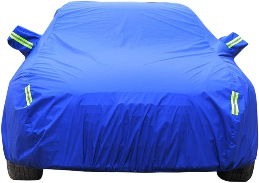 Car Cover Compatible with Alfa Romeo Alfa Giulietta Car Cover Sunscreen Insulation Breathable Dustproof Waterproof Sunshade Tear-Resistant Outdoor Protection Car Tarpaulin (Color : Blue)