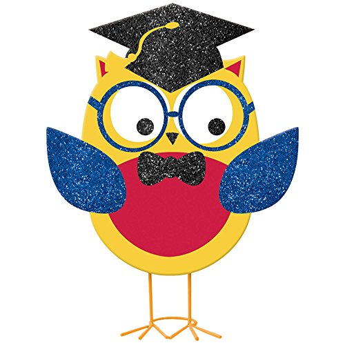 Grad Owl - Elementary Graduation Party Standing Grad Owl Table Centerpiece Decoration, 10