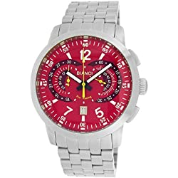 Roberto Bianci Men's 7096m_red Pro Racing Analog Display Analog Quartz Silver Watch