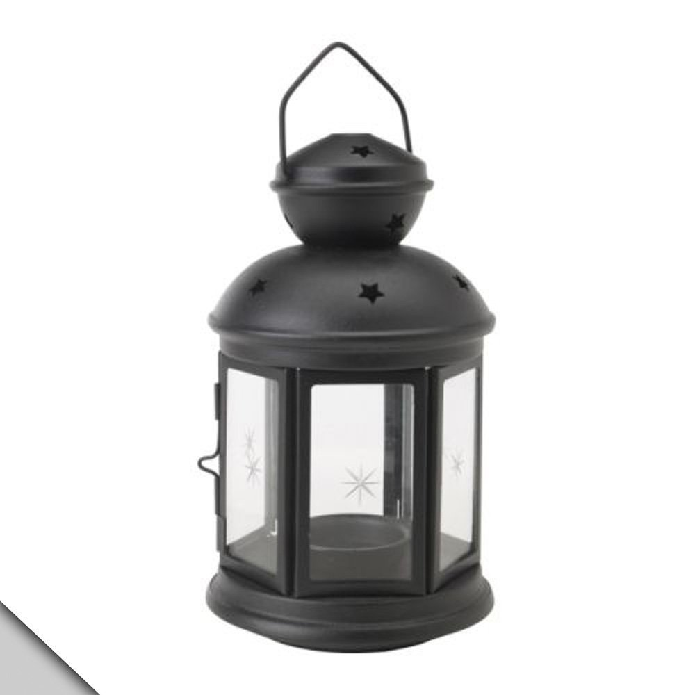 2 X Ikea ROTERA Lantern for TEALIGHT Suitable for Indoor and Outdoor USE Black